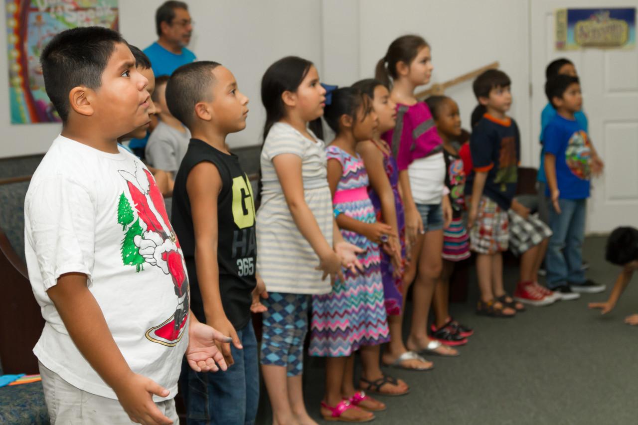 Children dancing and singing